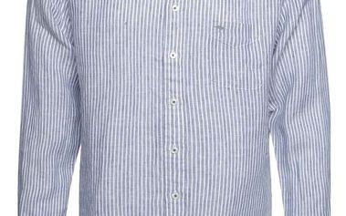 Bílo-modrá pruhovaná lněná košile Fynch-Hatton