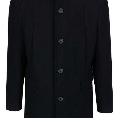 Tmavě modrý vlněný kabát Selected Homme New Mosto