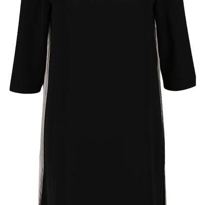 Černé volné šaty s pruhy na bocích VERO MODA Lolly