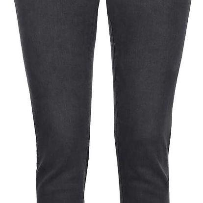 Tmavě šedé skinny džíny s roztřepenými lemy Noisy Maj Lucy