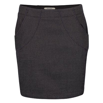 Fialovo-černá sukně s kapsami Skunkfunk Ederne