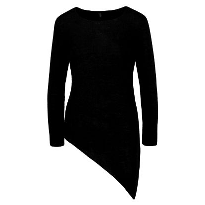 Černý asymetrický svetr Madonna Cleo