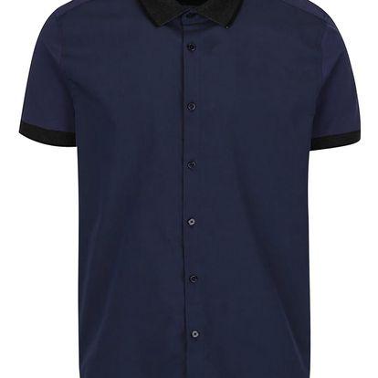 Tmavě modrá košile s krátkým rukávem Burton Menswear London