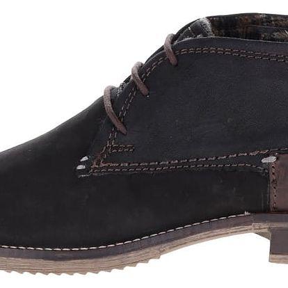 Černé pánské kožené kotníkové boty bugatti Brian