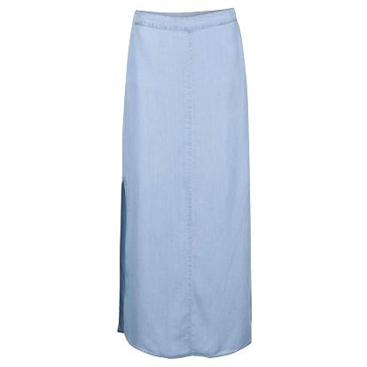 Světle modrá džínová maxi sukně Noisy May Nesli