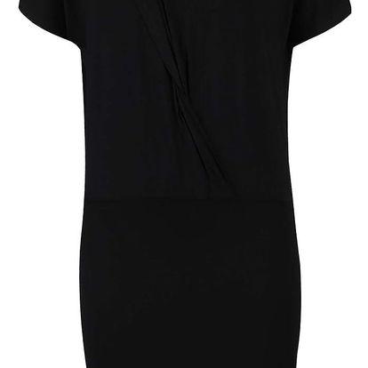 Černé šaty š překládaným topem a ozdobným detailem VERO MODA Jany
