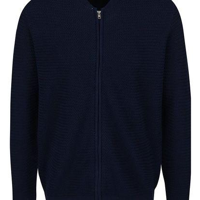 Tmavě modrý svetrový bomber Burton Menswear London