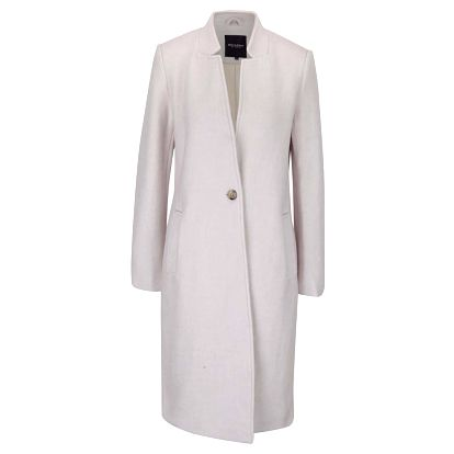 Krémový delší dámský kabát Broadway Batty