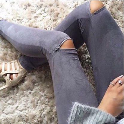 Dámské džegíny se zipy na kolenou