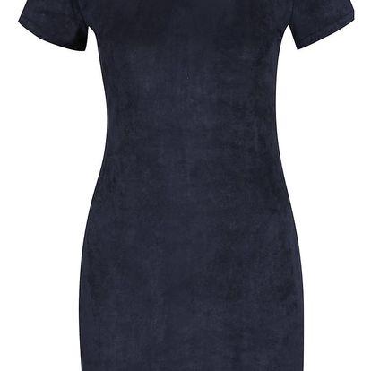 Tmavě modré šaty v semišové úpravě AX Paris