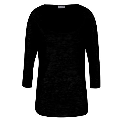 Černé tričko s 3/4 rukávem VILA Sumi