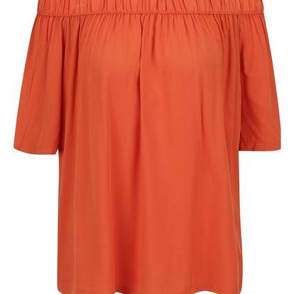Oranžová volná halenka s odhalenými rameny Broadway Eos