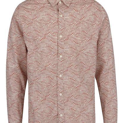 Béžová vzorovaná slim fit košile ONLY & SONS Christoffer