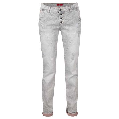 Šedé dámské džíny s mačkaným efektem s.Oliver