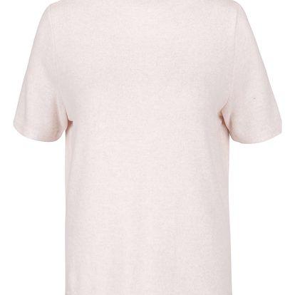 Světle růžový volnější žíhaný top ONLY Idaho