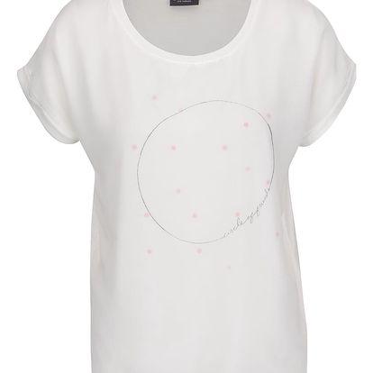 Krémové dámské tričko s potiskem Broadway Glory