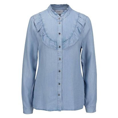 Modrá košile s volánem VERO MODA Dila