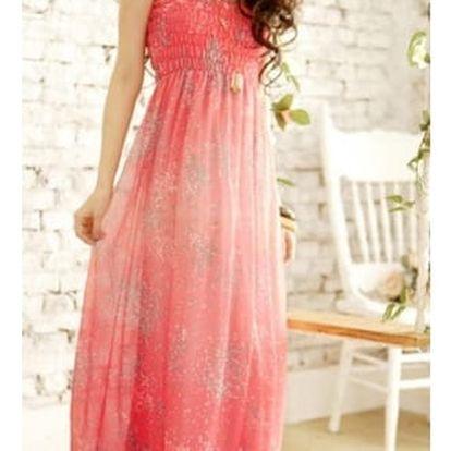 Dámské dlouhé šaty s úzkými ramínky - 5 barev