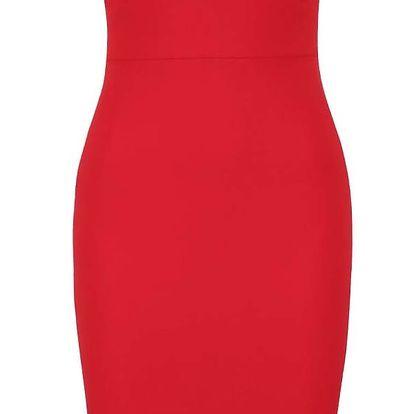 Červené šaty s odhalenými rameny a tenkými raménky AX Paris