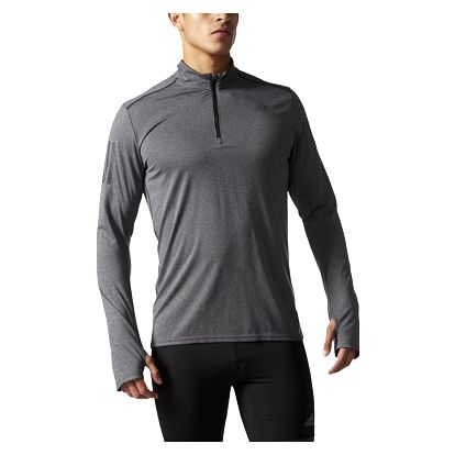 adidas Response 1/2 Zip Long Sleeve Tee Men S
