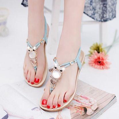 Luxusní letní sandálky se sovičkou - 5 barev