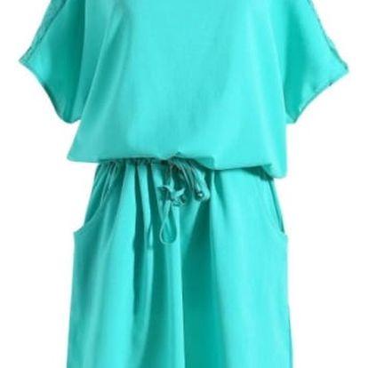 Ležérní volné šaty s krajkou - 8 velikostí
