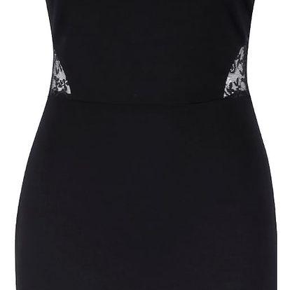 Černé šaty s krajkou na zádech Miss Selfridge
