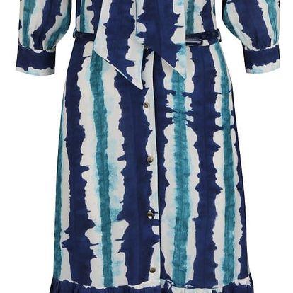 Modré vzorované propínací maxišaty Closet