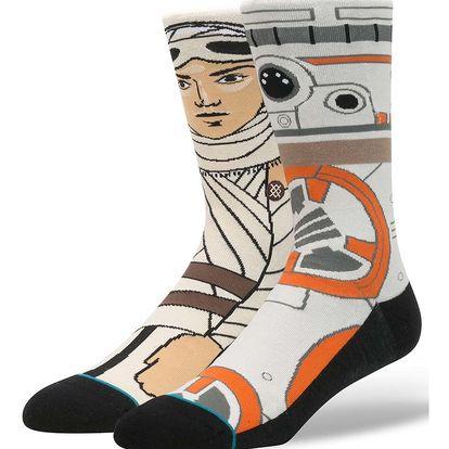 Oranžovo-krémové pánské ponožky s motivem Star Wars Stance Resistance