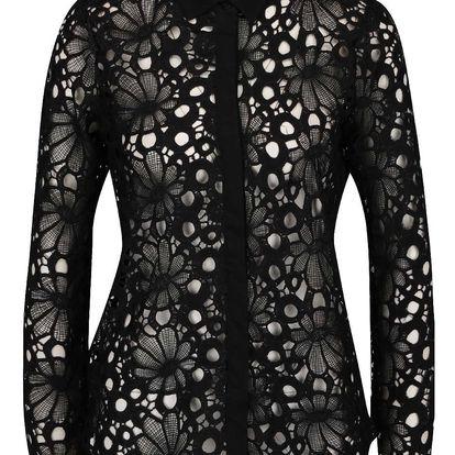 Černá krajková košile VILA Julin