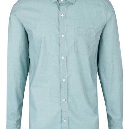 Mentolová pánská slim fit košile s.Oliver