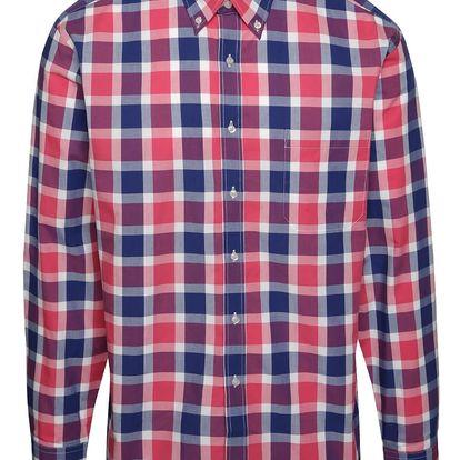 Růžovo-modrá kostkovaná košile Seven Seas Rome