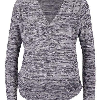 Krémovo-fialové těhotenské žíhané tričko Dorothy Perkins Maternity