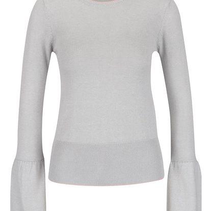Světle šedý lehký svetr Miss Selfridge