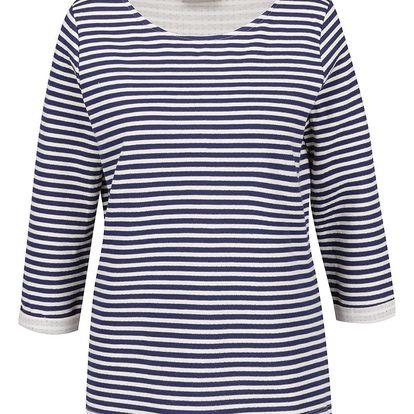 Krémovo-modré pruhované tričko VERO MODA Local