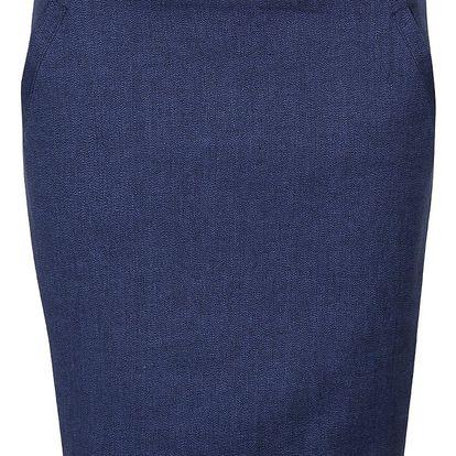 Tmavě modrá sukně s kapsami Skunkfunk Sahar