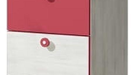 Dolmar Regál NUKI NU4 barva doplňků: růžová