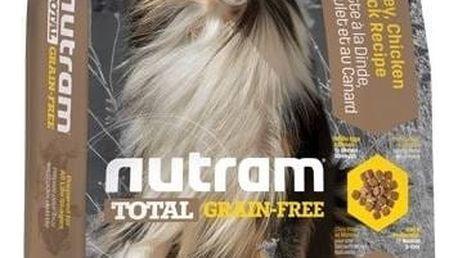 Granule NUTRAM Total Grain Free Turkey, Chicken, Duck Dog 13,6 kg + Antiparazitní obojek za zvýhodněnou cenu + Doprava zdarma