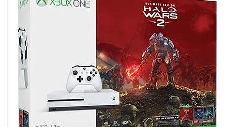 Herní konzole Microsoft 1 TB + Halo Wars 2 (234-00137) bílá