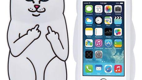 Silikonový kryt s kočkou pro iPhone 5/ 5s/ SE; 6/ 6s/ 6 Plus/ 6s Plus