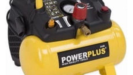 POWERPLUS POWX1721 Bezolejový kompresor 1100W 6L 8bar