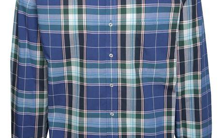 Zeleno-modrá kostkovaná košile Seven Seas Milan