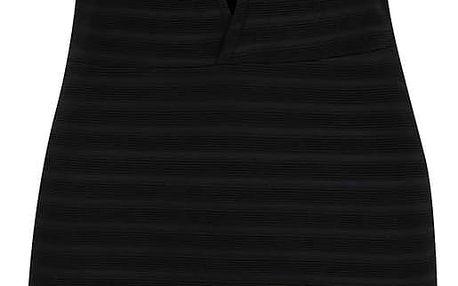Černé pruhované mini šaty s průstřihy Miss Selfridge