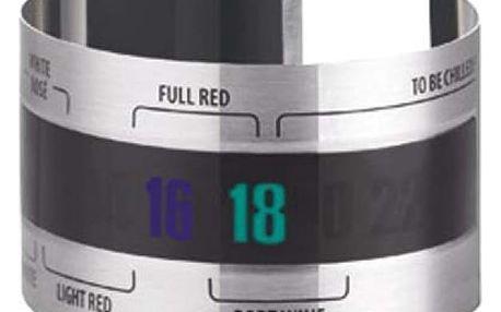 Externí teploměr na víno - kovový - dodání do 2 dnů