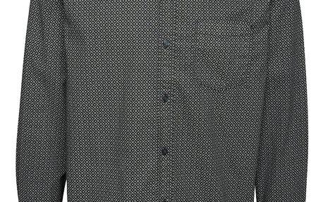 Šedo-černá pánská vzorovaná košile s.Oliver