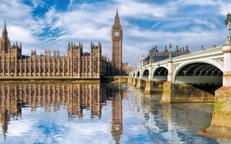 4denní poznávací zájezd do Anglie s průvodcem, dopravou a ubytováním se snídaní