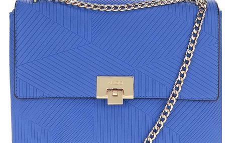 Modrá crossbody kabelka s detaily ve zlaté barvě ALDO Fair