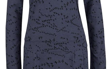 Tmavě modré vzorované šaty s dlouhým rukávem Ragwear Cami Organic