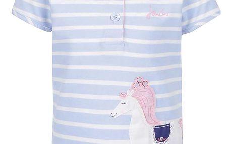 Světle modré holčičí pruhované polo tričko s nášivkou Tom Joule