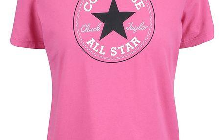 Růžové dámské tričko s logem Converse
